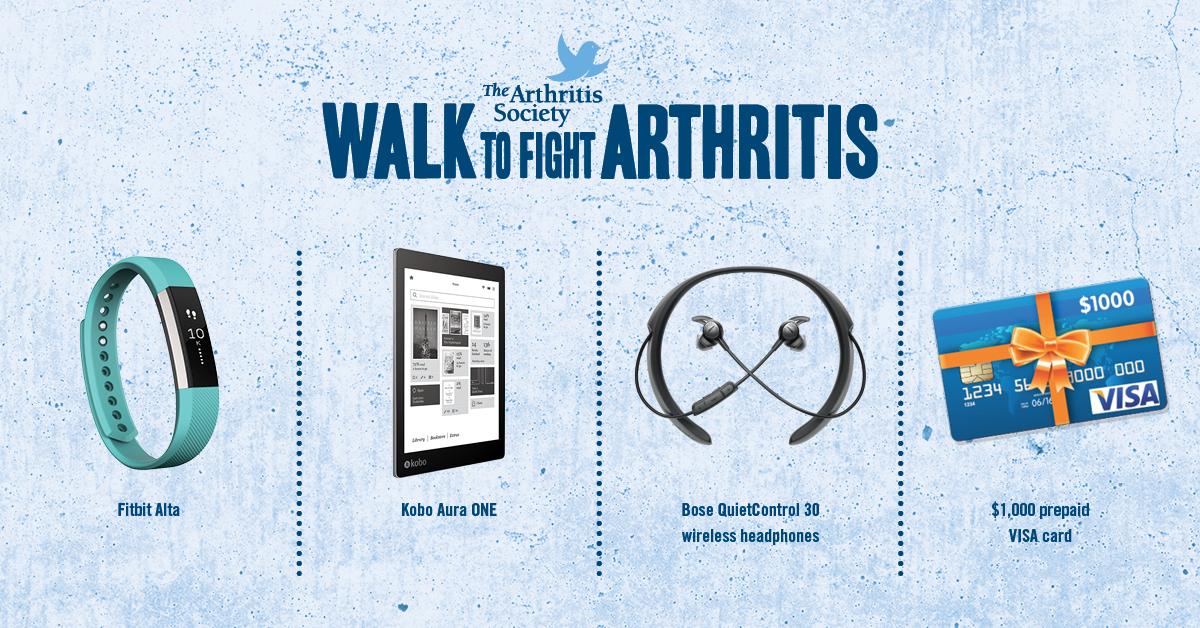 Walk to Fight Arthritis Prizes